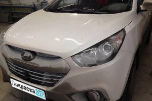 Hyundai ix 35 2011 ремонт и покраска заднего правого крыла и задней правой двери