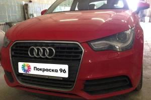 Audi A1 2012 ремонт и покраска заднего бампера 201411
