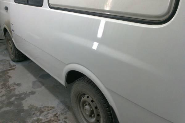 Kia Pregio 2004 кузовной ремонт и покраска левого бока 20121105