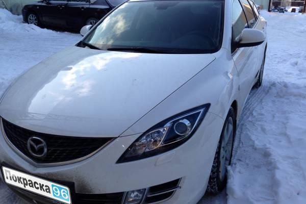 Mazda 6 (2nd generation) 2012 замена задней правой двери, ремонт и покраска передней правой двери и правого крыла 20130130