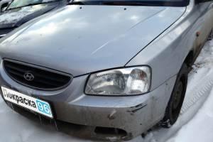 Hyundai Accent 2006 ремонт и покраска заднего левого крыла 20130307