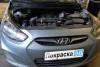 Hyundai Solaris 2011 ремонт и покраска задней левой двери, заднего левого крыла и порога 20130428