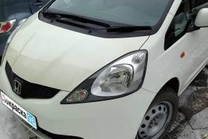 Honda Fit II 2010 ремонт и покраска заднего левого крыла, задней левой двери, полная полировка кузова, установка задней левой форточки 20130501