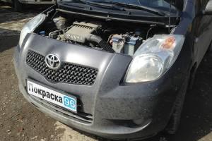 Toyota Vitz (90) 2010 ремонт и покраска задней крышки багажника, замена заднего стекла 20130505