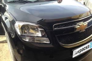 Chevrolet Orlando 2011 ремонт и покраска переднего бампера, переднего правого крыла, капота, заднего правого крыла 20130610