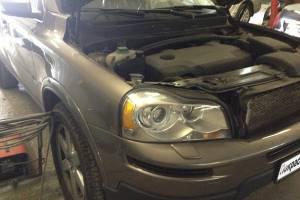 Volvo XC90 ремонт и покраска правых дверей, задней левой двери, заднего левого крыла, ремонт дверных молдингов 20130708