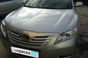 Toyota Camry 2008 восстановление геометрии кузова, замена переднего  бампера, переднего левого крыла, левых дверей, вытяжка лонжеронов 20130716