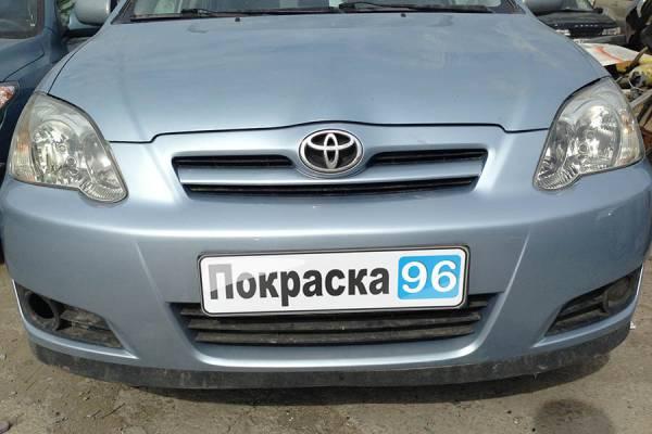 Toyota Corolla (120) 2006 ремонт и покраска заднего бампера, заднего левого крыла, вытягивание заднего левого лонжерона 20130720